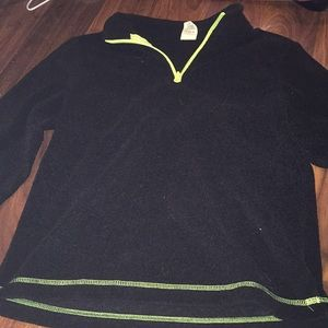 Black and neon pullover